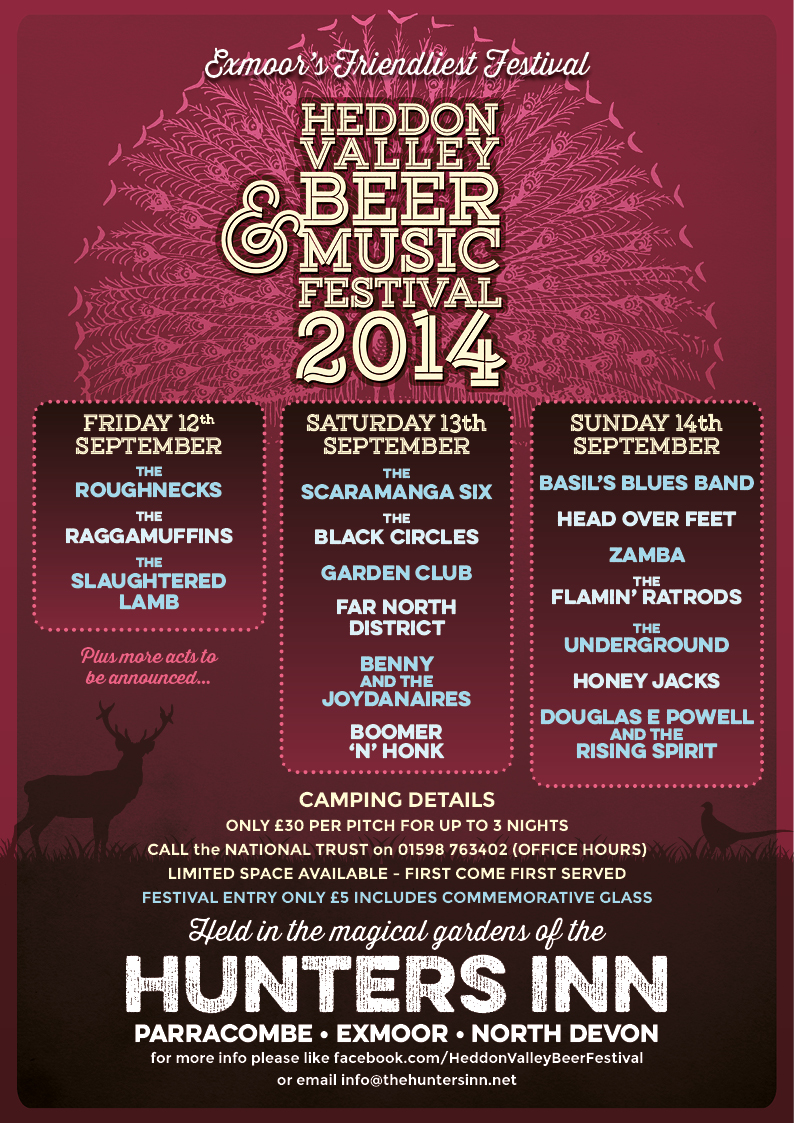 Poster for Heddon Valley Beer and Music Festival 2014